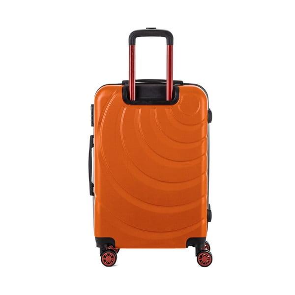 Oranžový cestovný kufor Murano Manhattan, 71 l
