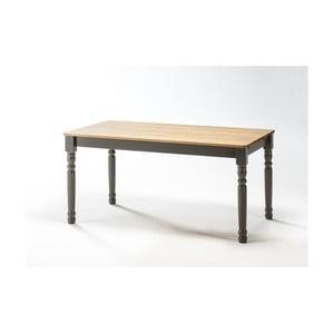 Sivý jedálenský stôl z borovicového dreva SOB Irelia