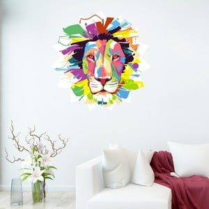 Samolepka Fanastick Pop Art Lion, 50 x 50 cm