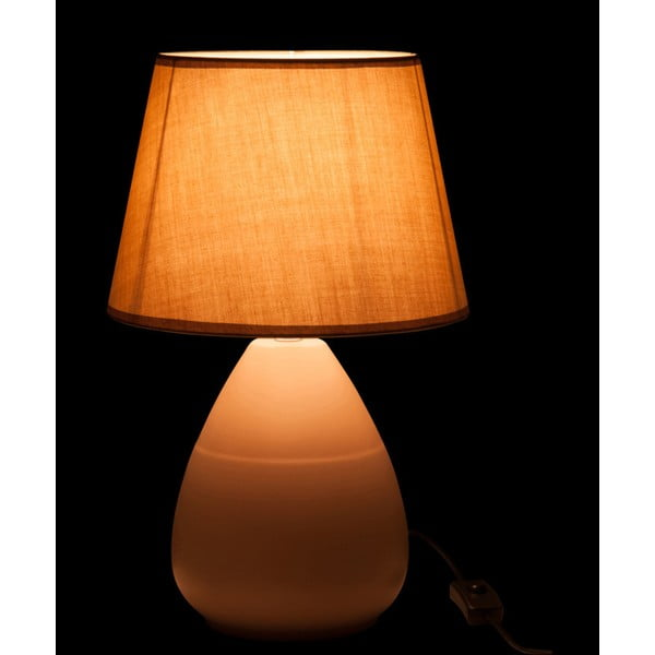 Krémová stolová lampa s tienidlom  J-Line