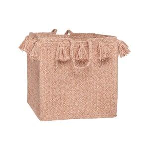 Ružový bavlnený úložný košík Nattiot, Ø25 cm