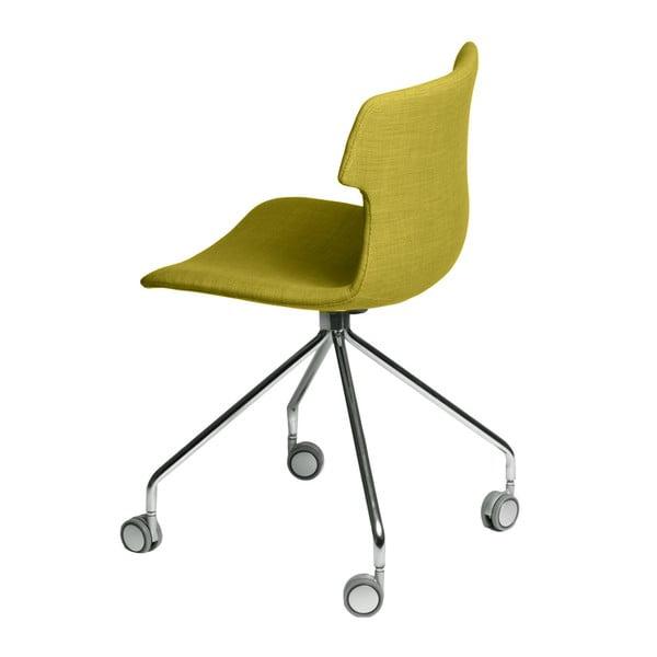 Sada 2 zelených čalúnených stoličiek D2 Techno Roll