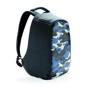 Unisex bezpečnostný batoh s modrými detailmi XD Design Camouflage