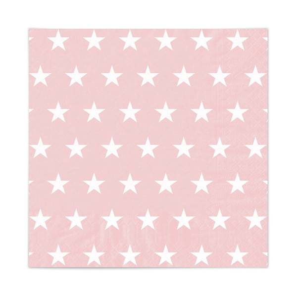 Sada 20 obrúskov Stars Rosa