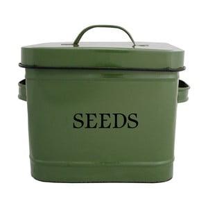 Zelená dóza na semienka Esschert Design Garden, 3.75 l