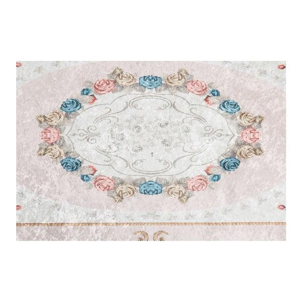 Zamatový koberec Deri Dijital Maluna Powder, 80×150 cm