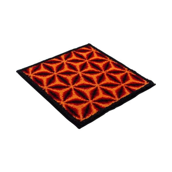 Kúpeľňová predložka Kolor My World XIV 60x60 cm, pomarančová