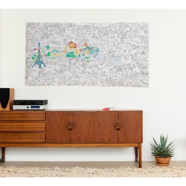 Maľovanka OMY Paris XXL (180x100 cm)