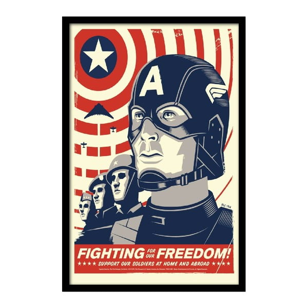 Plagát Fighting Freedom, 35x30 cm