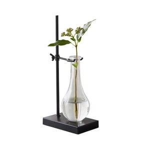 Sklenená váza s čiernym podstavcom Native Laboratory