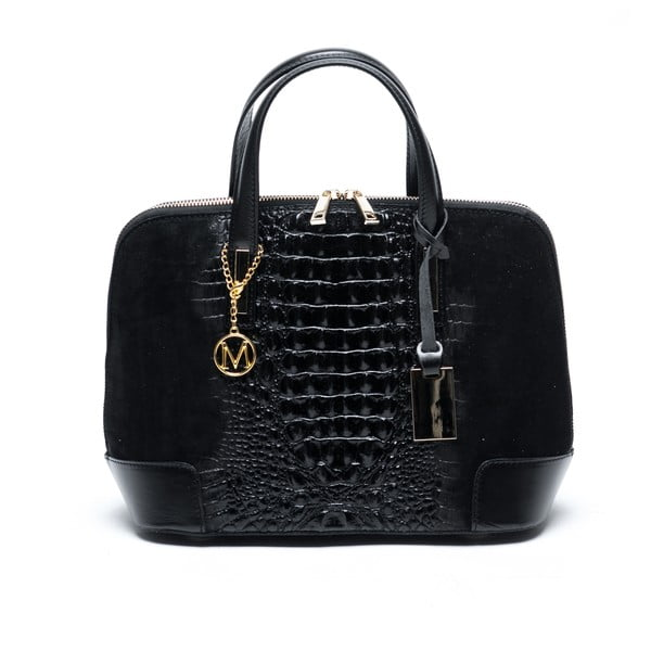 Čierna kožená kabelka Mangotti Jasminum