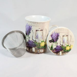 Hrnček s filtrom a víčkom Fleurs de Provence