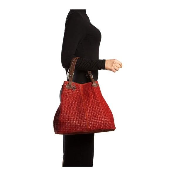 Kožená kabelka Spring 858 Rosso