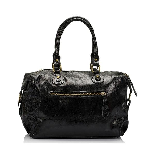 Kožená kabelka Kiara, čierna