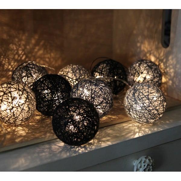 Čierna svetelná LED reťaz Best Season Jolly Lights, 10svetielok