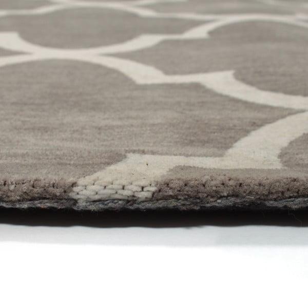 Bavlnený koberec Boho Grey/White, 70x110 cm