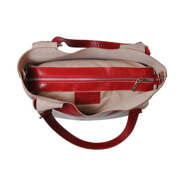 Červená kabelka z pravej kože Andrea Cardone Stefano