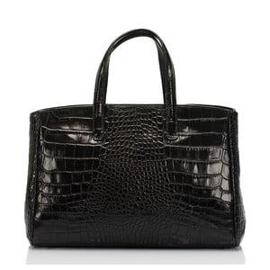Čierna kožená kabelka Lisa Minardi Magnata