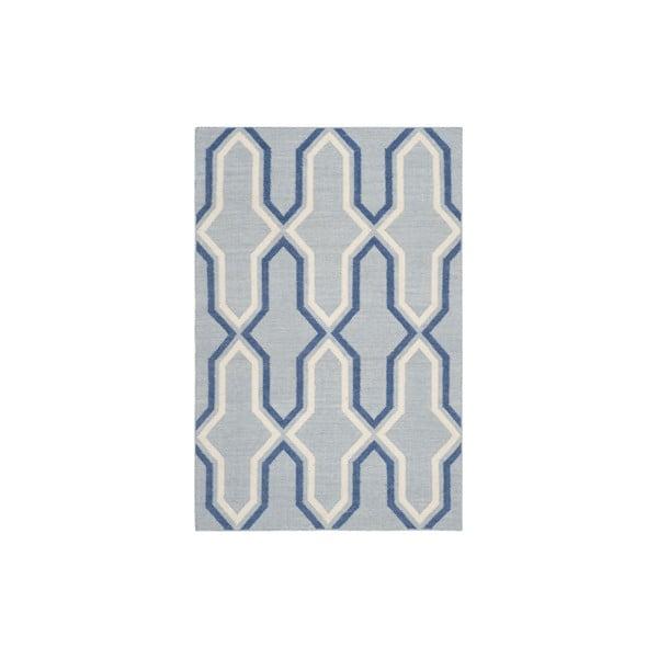 Vlnený koberec Aklajm 152x243 cm, modrý