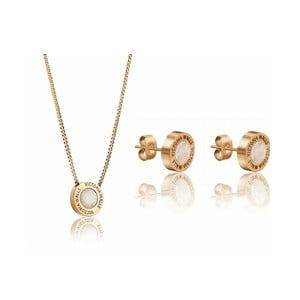 Set náhrdelníka a náušníc z chirurgickej ocele v zlatej farbe Victoria Walls  Lia 3a6483b419f