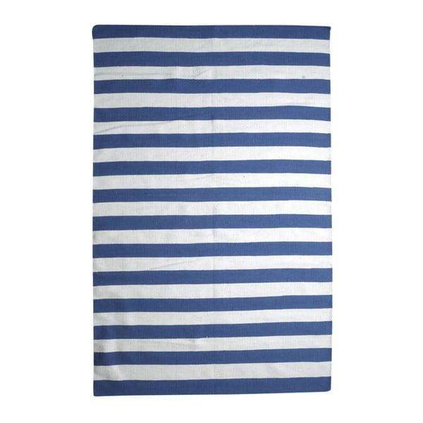 Vlnený koberec Geometry Stripes Blue & White, 200x300cm