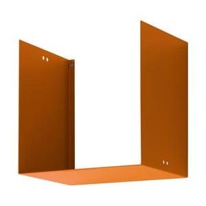 Nástenná polica Geometric One, oranžová