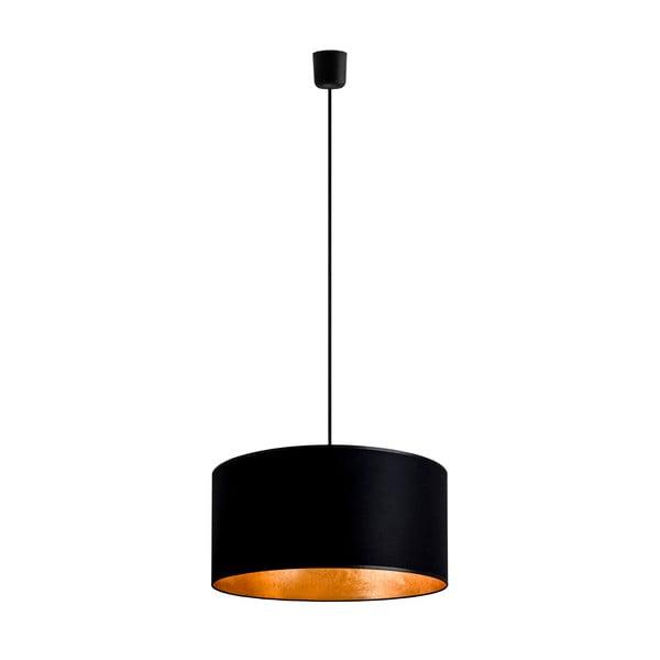 Čierno-zlaté závesné svietidlo Bulb Attack Tres, ⌀ 40 cm