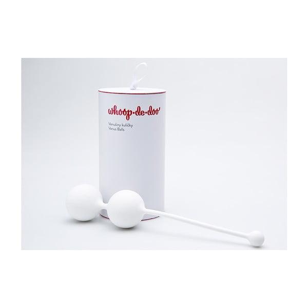 Biele dizajnové venušine guľôčky Whoop.de.doo Light, 41 g