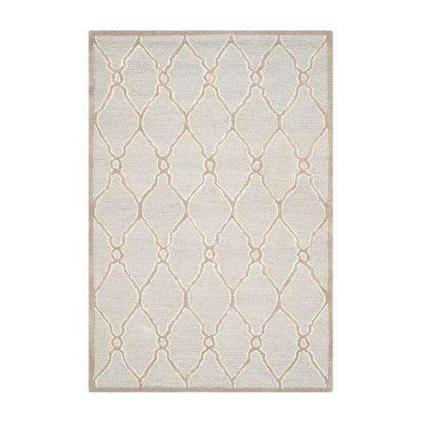 Vlnený koberec Augusta 152x243 cm, krémový