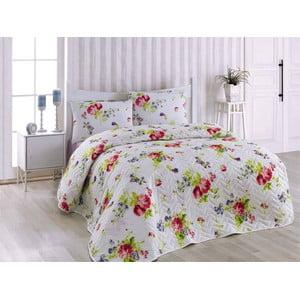 Prikrývka na posteľ a obliečka na vankúš Florance Lilac, 160x220 cm