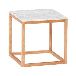 Dubový odkladací stolík s bielou doskou Hübsch Albert