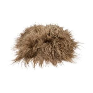 Hnedý podsedák z jahňacej kože s dlhým vlasom Arctic Fur Saddo, 37 × 37 cm