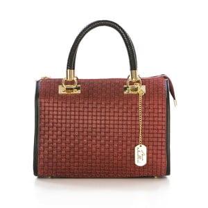 Červená kožená kabelka Anna Morellini Doris