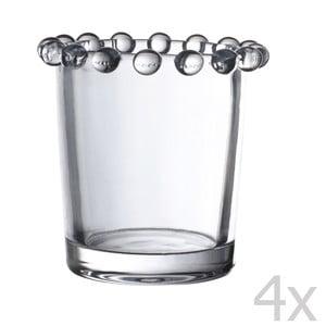 Sada 4 stojančekov na sviečku Pearls