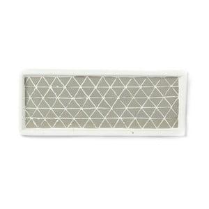 Svetlosivá servírovacia keramická tácka Simla Diamond, 28 × 11 cm