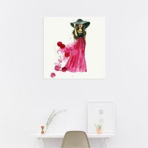 Nástenný samolepiaci obraz North Carolina Scandinavian Home Decors Girl V2, 30×30 cm