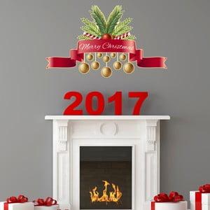 Vianočná samolepka Ambiance Merry Christmas Golden Decoballs
