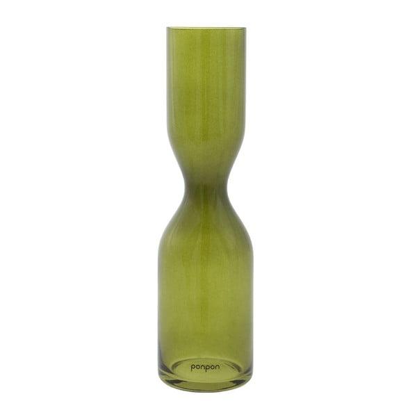 Váza Pinch 36 cm, zelená