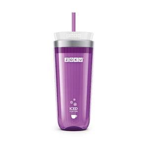 Fialový pohárik na ľadovú kávu Zoku Iced Coffee