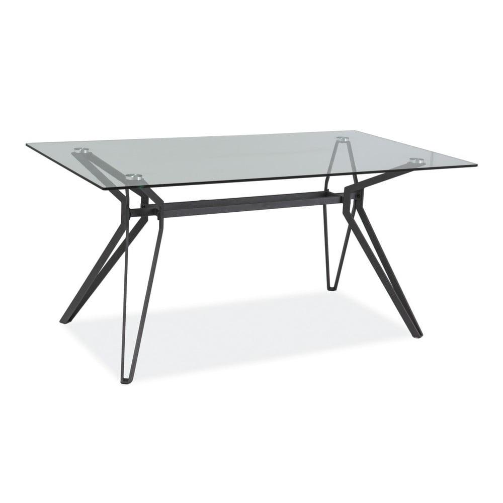 Jedálenský stôl s doskou z tvrdeného skla Signal Tivoli, dĺžka 160 cm
