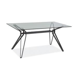 Jedálenský stôl s doskou z tvrdeného skla Signal Tivoli, dĺžka 160cm