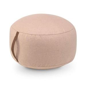 Svetloružový bavlnený sedací puf HF Living Round, ⌀ 50cm