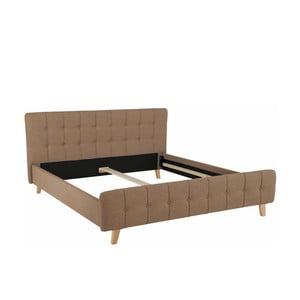 Hnedá dvojlôžková posteľ Støraa Limbo, 180 x 200 cm