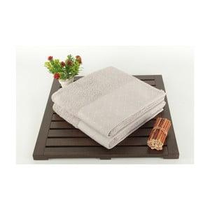 Sada 2 svetlosivých bavlnených uterákov Patricia, 50x90 cm