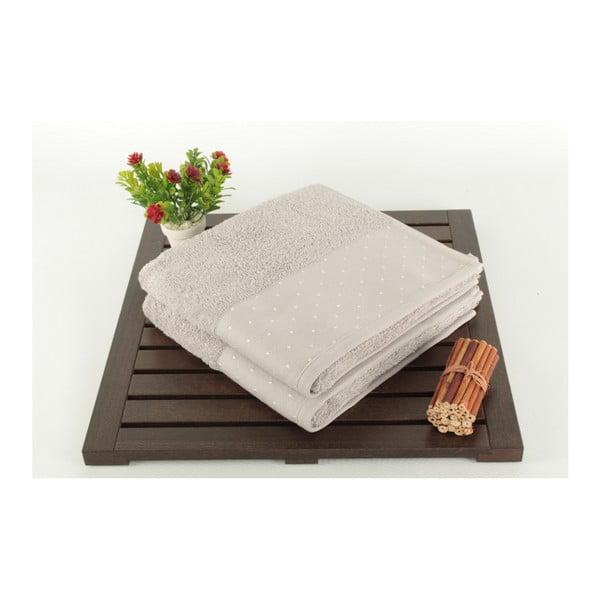 Sada 2 svetlosivých bavlnených uterákov Patricia, 50×90 cm