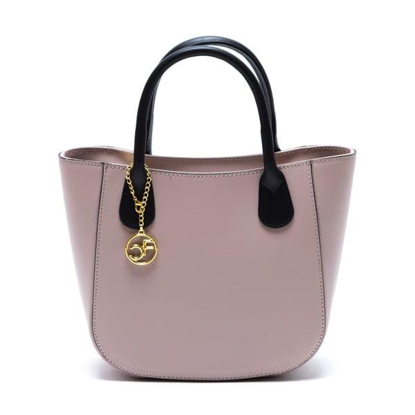 Kožená kabelka Coci, ružová