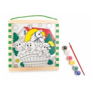 Drevené maľovanky s farbami a štetcom Legler Animals