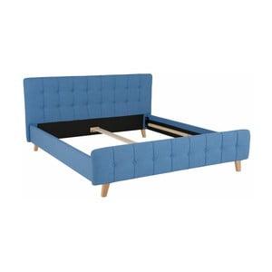 Modrá dvojlôžková posteľ Støraa Limbo, 180 x 200 cm
