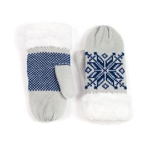 Sivé rukavice Lola so vzorom