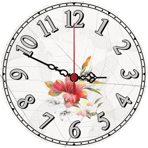 Nástenné hodiny Wild Flower, 30 cm